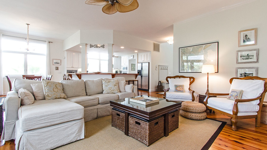 Sandra Bullock Tybee Island House Guest House Living Room