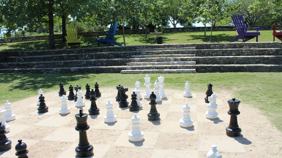 Giant Chess Set at San Antonio Botanical Garden, San Antonio Texas