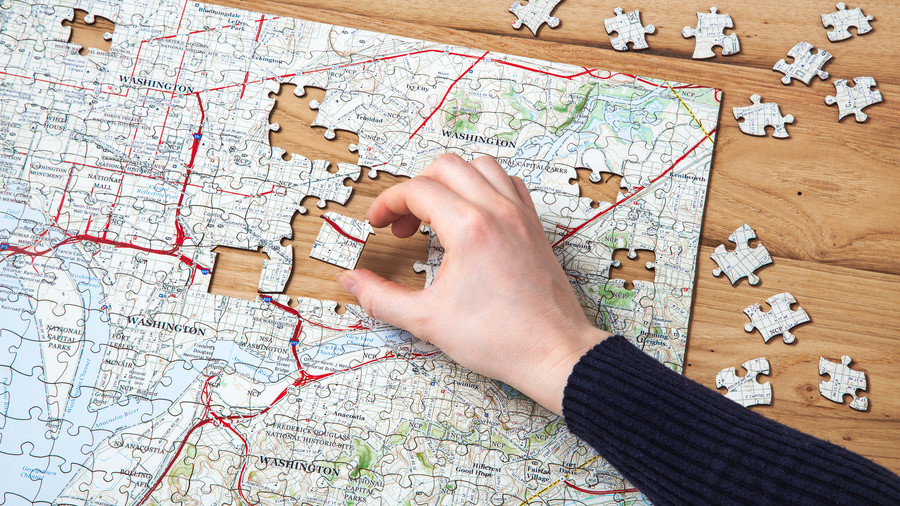 The Grommet Butler and Hill Custom Hometown Map Puzzle, $39.95