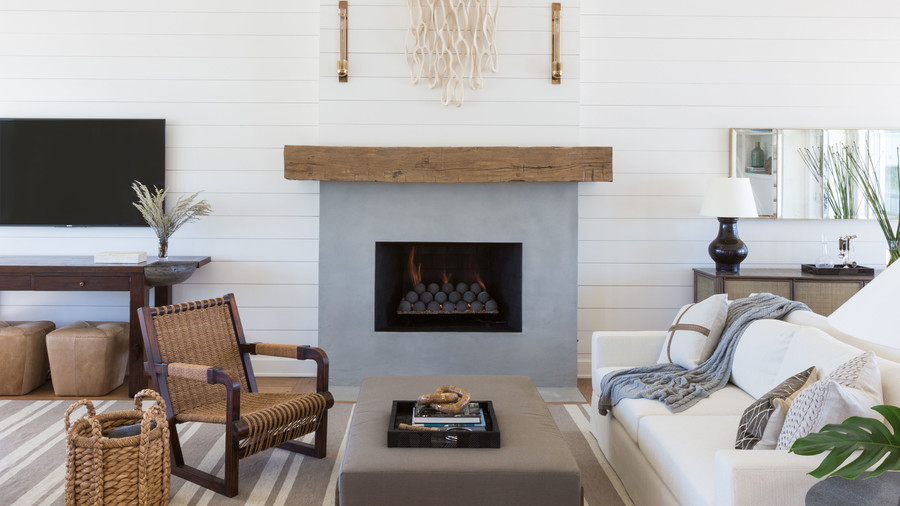 Texas Flanigan Makeover Fireplace After