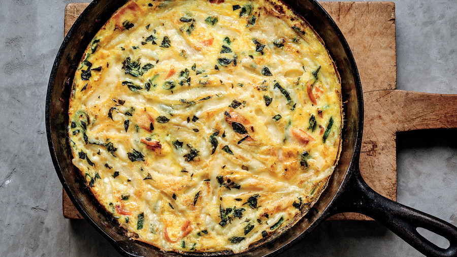 An Easy Salmon Frittata You Can Make in 15 Minutes