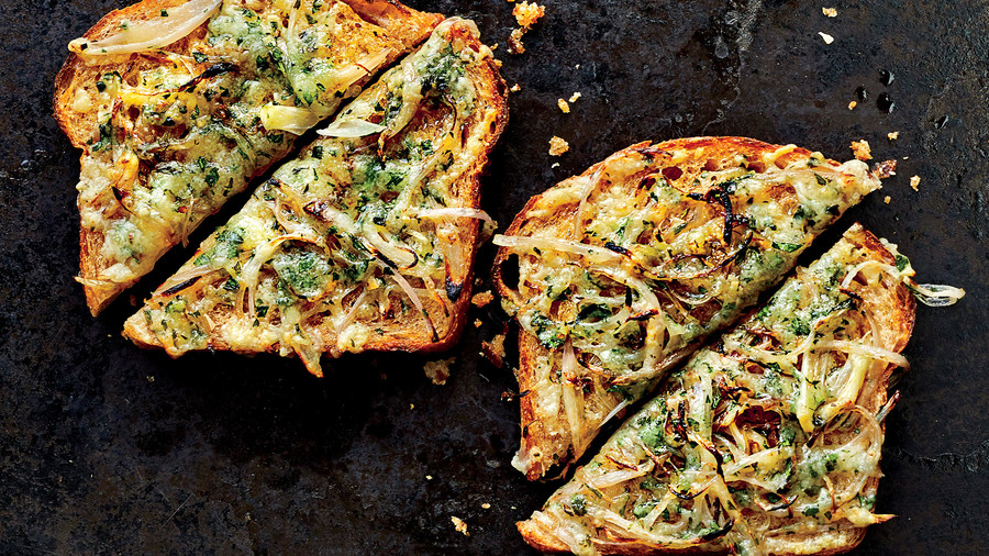 Herby Shallot Toasts