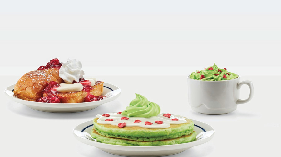 IHOP'S GRINCH PANCAKES