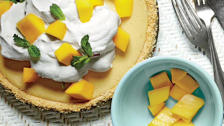 Mango-Lemon-Buttermilk Icebox Pie