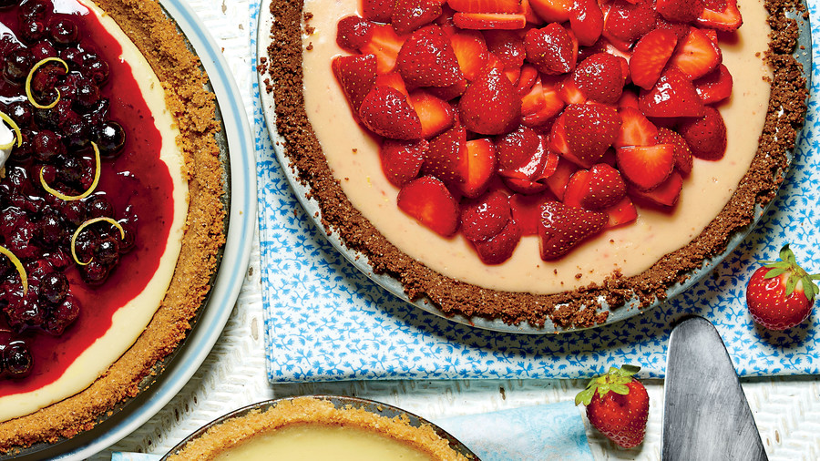 Strawberry-Lemon-Buttermilk Icebox Pie