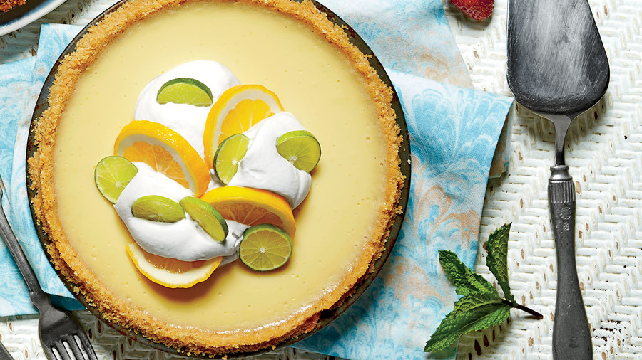 Key Lime-Buttermilk Icebox Pie
