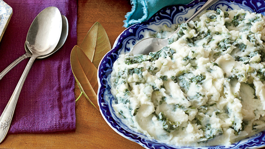 Mashed Potatoes with Greens