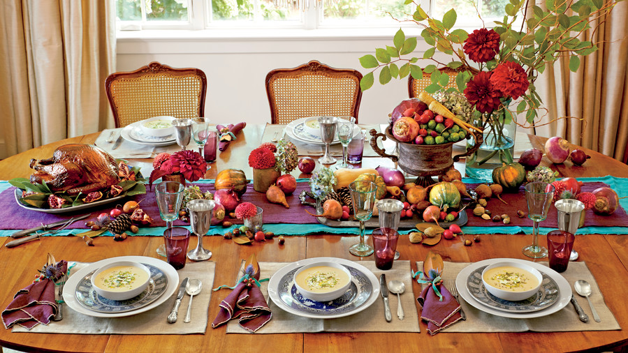 Smoked Turkey, Parsnip Soup; Photographer: Alison Miksch; Prop Stylist: Buffy Hargett-Miller; Food: Erin Merhar