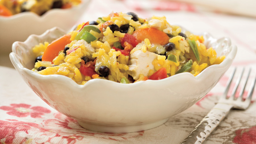 Baked Chicken and Rice With Black Beans