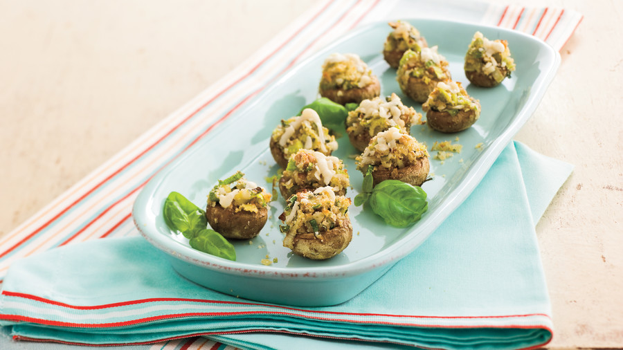 Best party appetizers and recipes southern living stuffed mushrooms with pecans recipes forumfinder Gallery