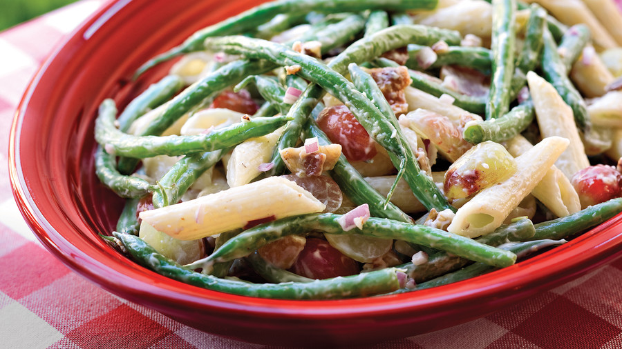 Green Bean, Grape, and Pasta Salad