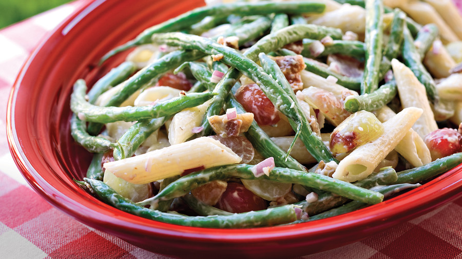 Healthy Food Recipe: Green Bean, Grape, and Pasta Toss