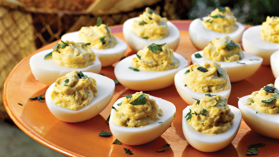 Deviled egg recipes southern living spicy southwestern deviled eggs ccuart Choice Image