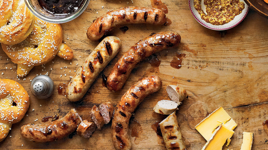 Plum-Glazed Sausage