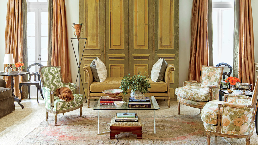 Living Room Sets New Orleans classically elegant new orleans home - southern living