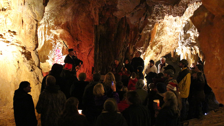 Caroling in the Caverns at Grand Caverns