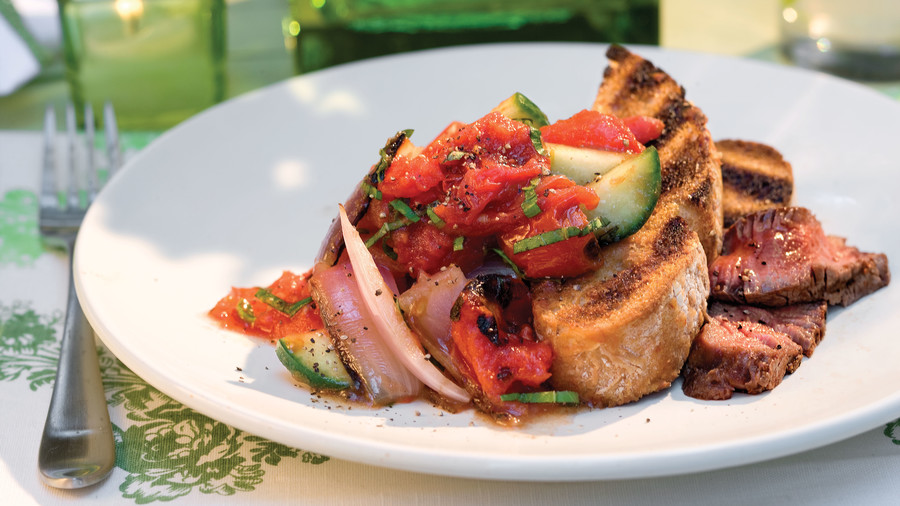 Vegetarian grilling recipes southern living vegetarian grilling recipes panzanella salad forumfinder Image collections