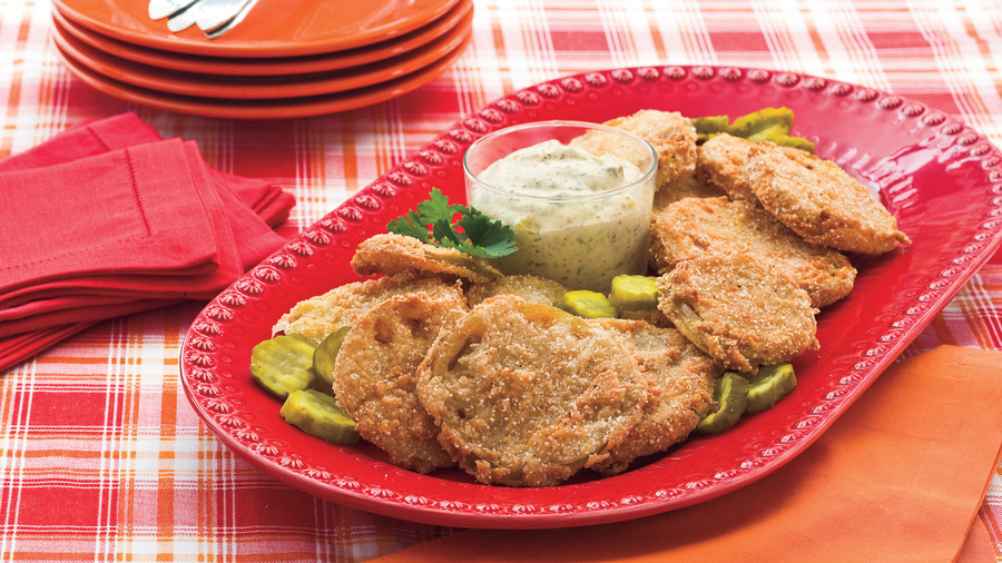 June: Fried Green Tomatoes With Bread-and-Butter Pickle Rémoulade