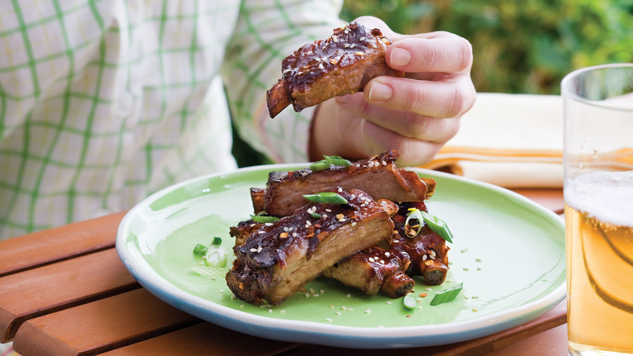 Honey-Soy Appetizer Ribs