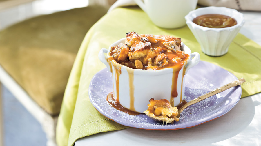 Southern Living Pumpkin Recipes: Peanut Butter-Banana Sandwich Bread Pudding