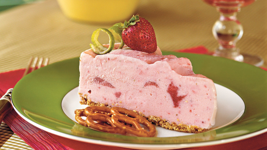 Spiked Strawberry-Lime Ice-Cream Pie