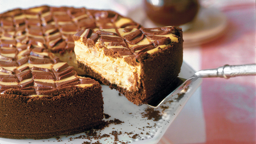 Lightened Chocolate-Coffee Cheesecake