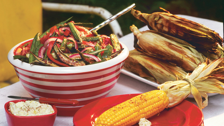 Pan-fried Okra, Onion, and Tomatoes Recipe