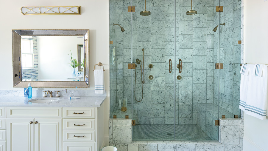 Coastal Bathroom Tile Ideas. Luxurious Shower