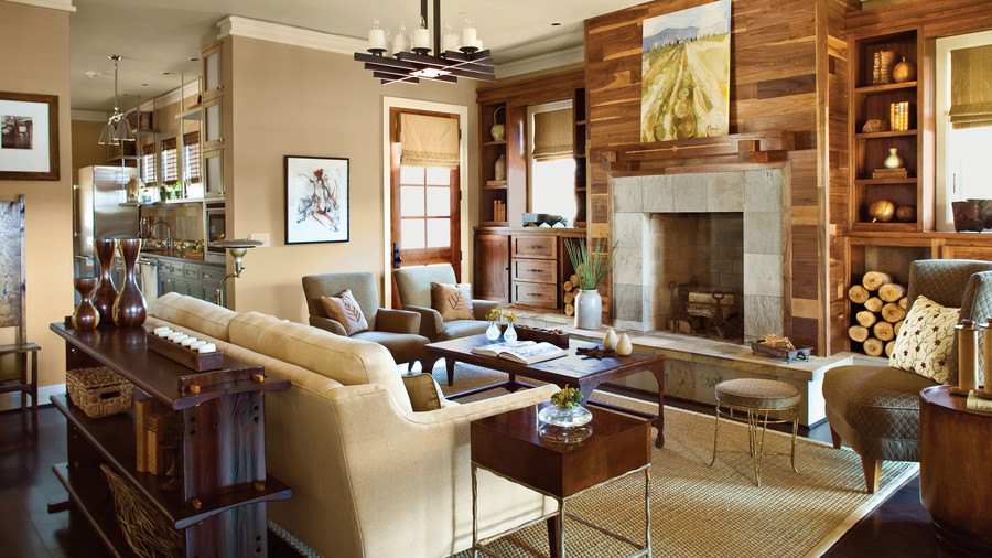 Traditional Living Rooms Part - 33: Use Non-Traditional Materials