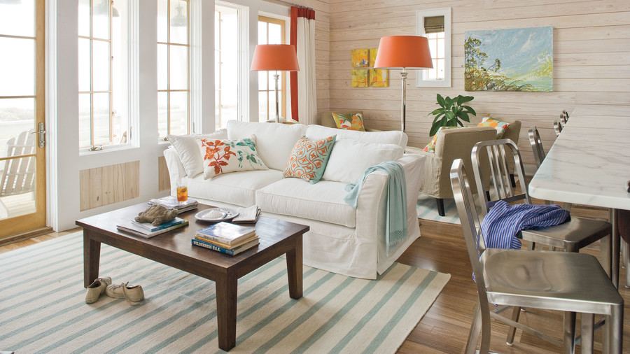 Cottage Style Family Room Part - 42: Choose A Sunny Palette