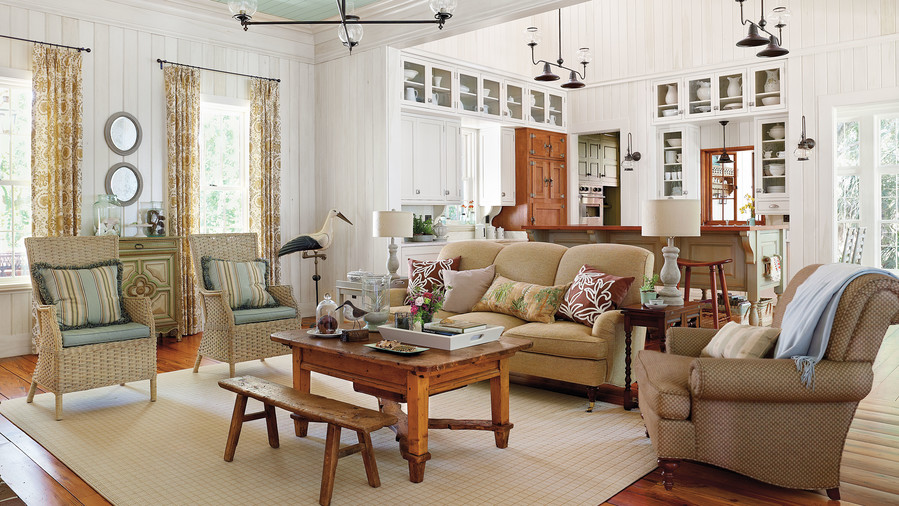 Salvage Original Materials  In this living room. 106 Living Room Decorating Ideas   Southern Living