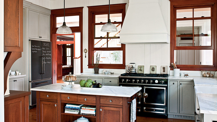 Modern Dogtrot Kitchen