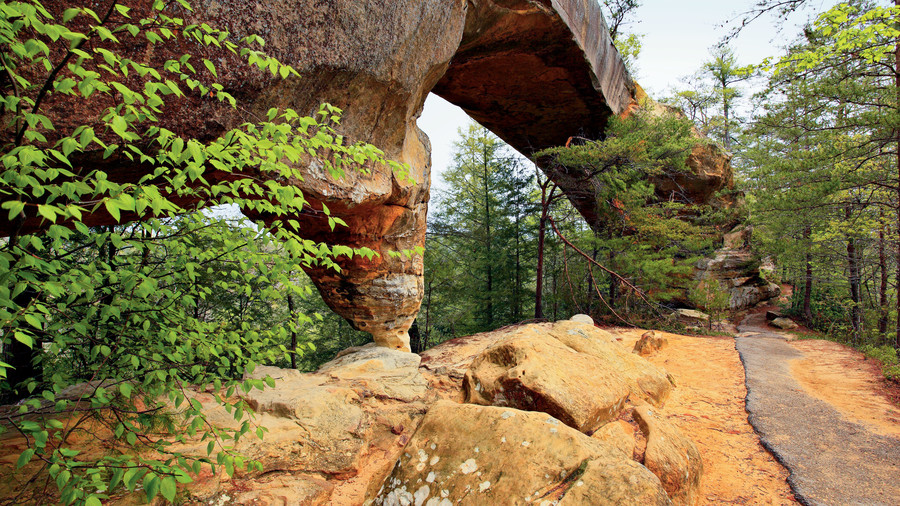 Wow Factor: Our answer to Utah's Arches National Park, the gorge has 100-plus natural sandstone arches, the highest concentration east of the Mississippi.You'll Love If: You marvel at sculptures in nature.Explore It: A 1-mile-loop trail leads over and u