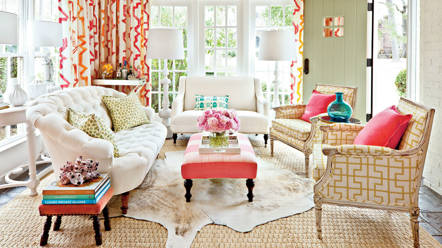 Decorating sunrooms punch up your palette southern living for Sunroom decor