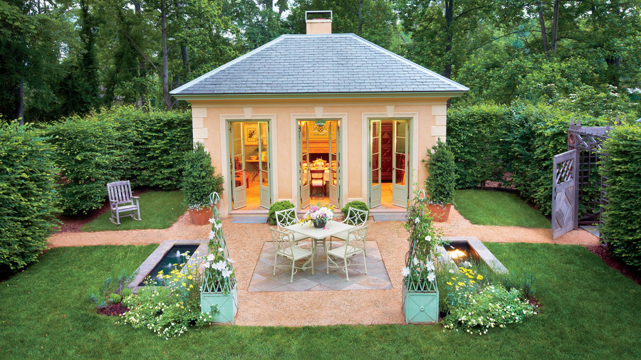 classical garden pavilion - Backyard Courtyard Designs