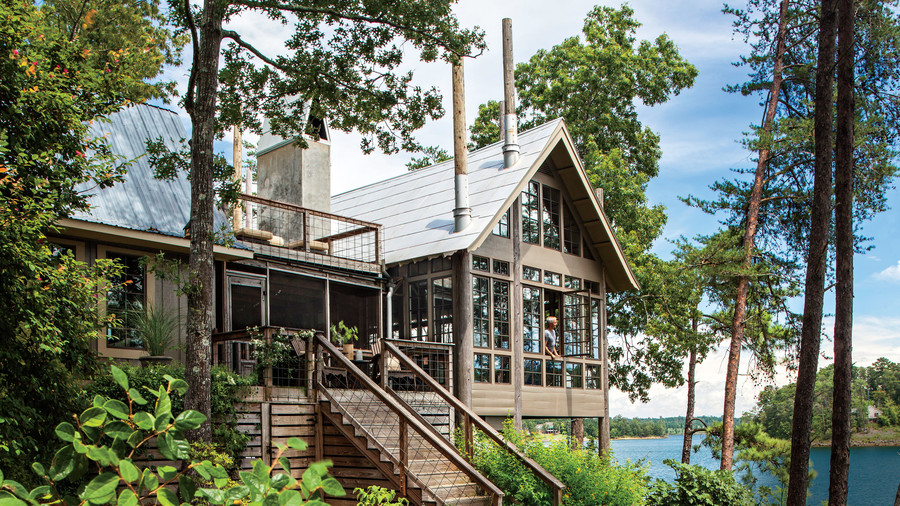 Charming home exteriors southern living for Decorating a lake house pictures