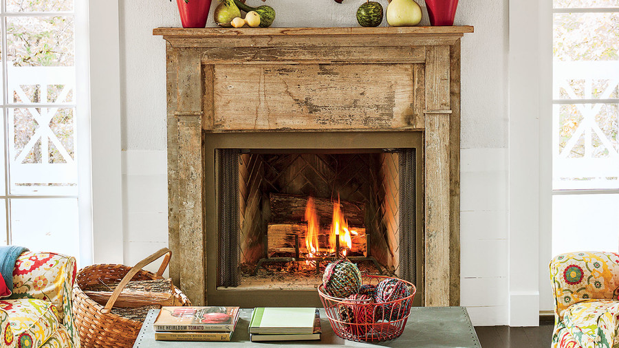 13. Antique Mantel
