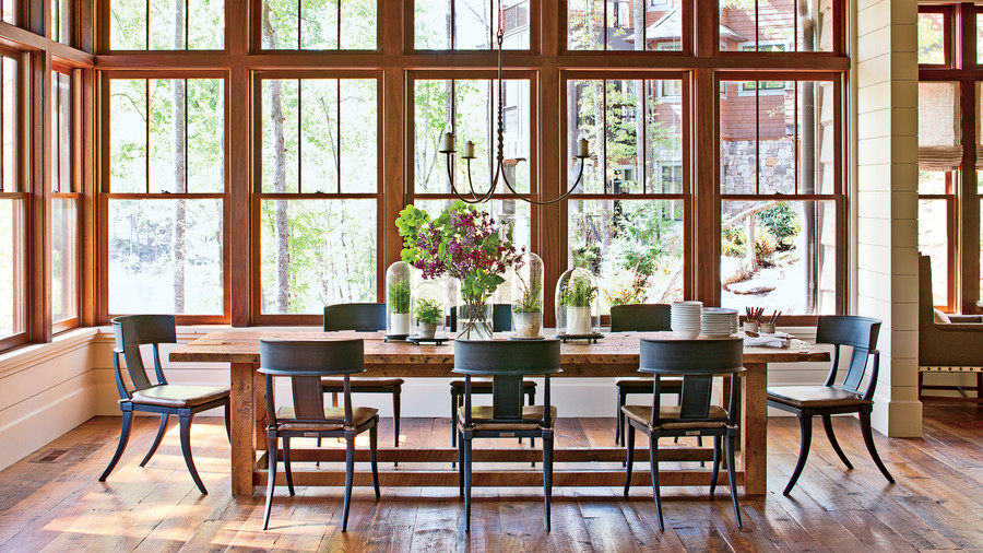 Rustic Dining Area