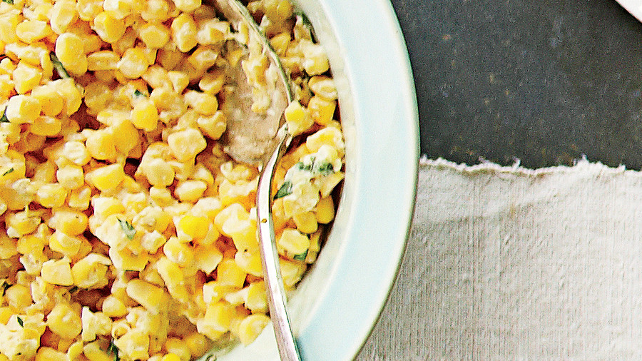 Whipped-Cream Corn Salad