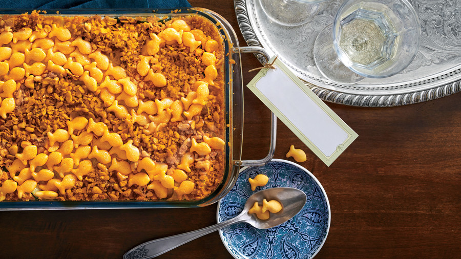7. Cheese Cracker-Topped Squash Casserole