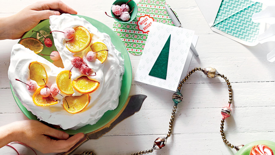 White Cake with Bourbon Buttercream and Seven-Minute Frosting