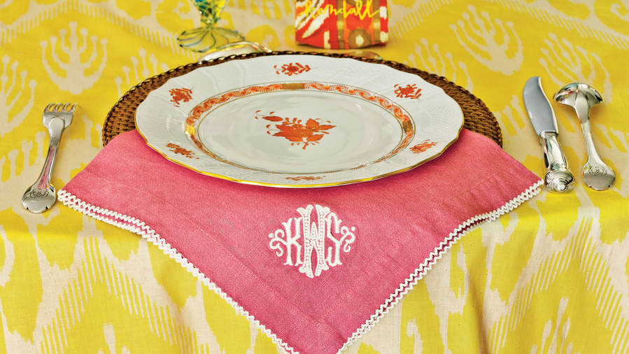 Yellow Table Setting
