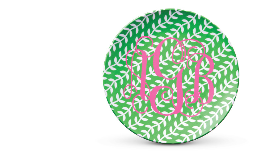Summer Entertaining Essentials: Monogrammed Salad Plates