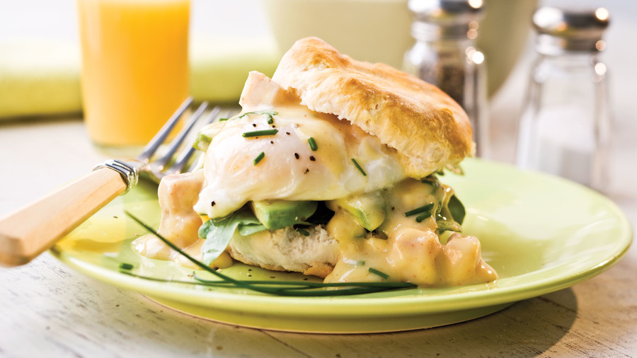 Spicy Ham-and-Eggs Benedict