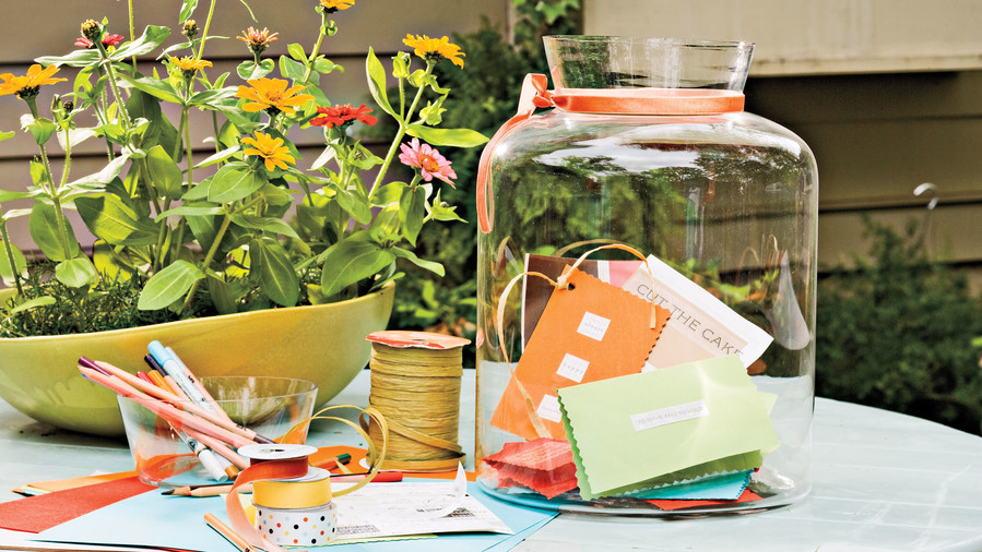 Wedding Bridal Shower Ideas: Memory Jar