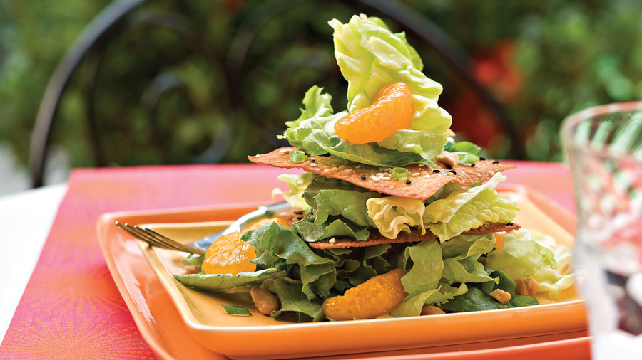 Spring Salad Recipes: Crispy Sesame Salad Stack