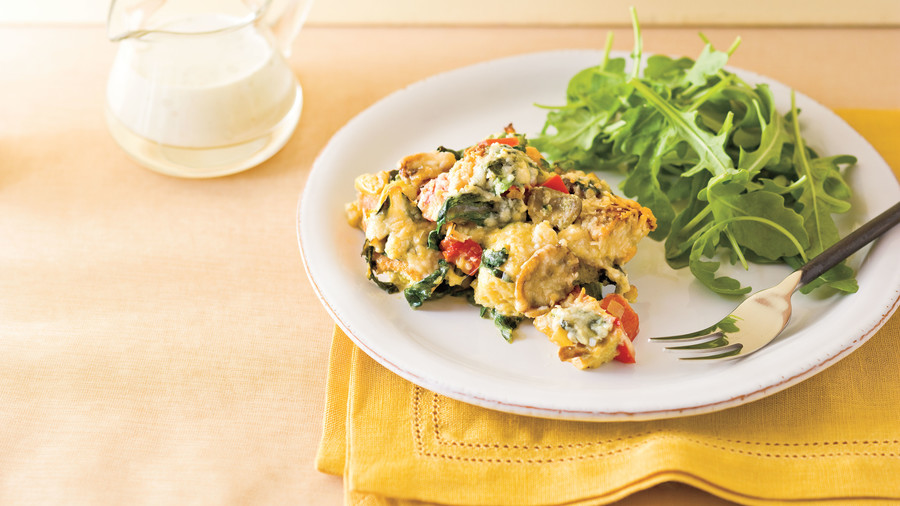 Marian's Savory Vegetable Bread Pudding