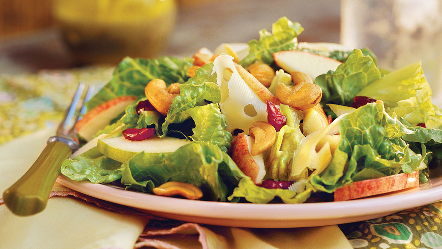 Spring Salad Recipes: Apple-Pear Salad With Lemon-Poppy Seed Dressing