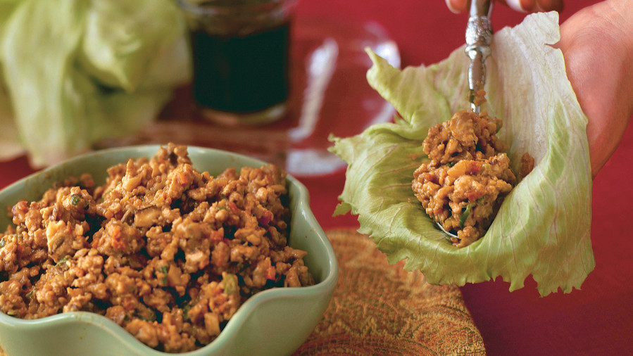 Easy Turkey Recipes: Crispy Ginger-and-Garlic Asian Turkey Lettuce Wraps