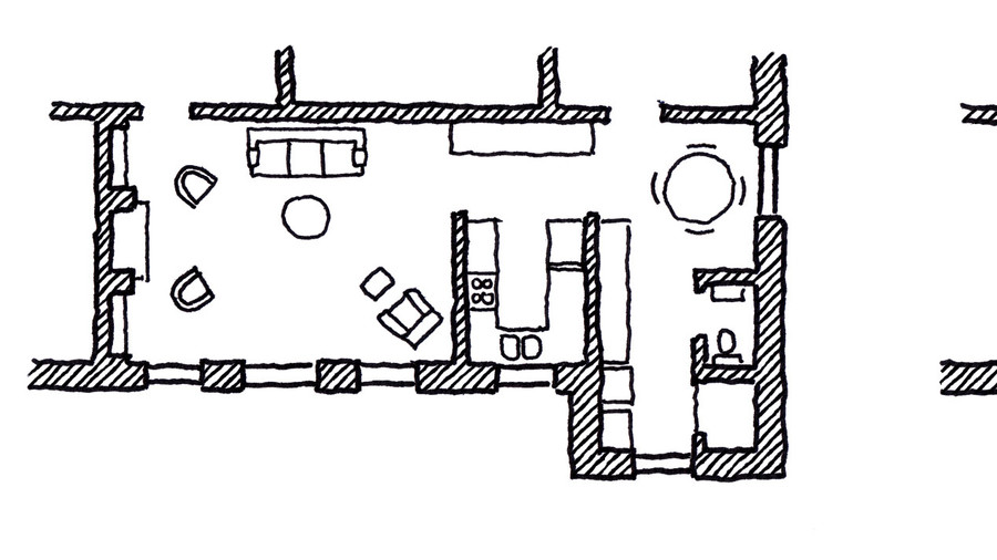 Before and After Floorplan